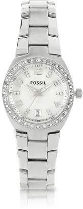 Fossil Stainless Steel & Crystals Women's Bracelet Watch