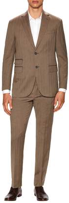Michael Bastian Gray Label Men's Wool Herringbone Notch Lapel Suit