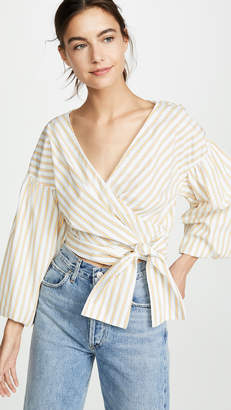 Derek Lam 10 Crosby Cropped Bell Sleeve Blouse