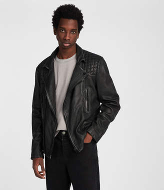 AllSaints Cargo Leather Biker Jacket