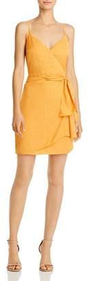 GUESS Nadia Faux-Wrap Jacquard Dress