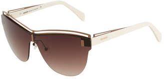 Balmain Cat-Eye Havana Acetate Sunglasses