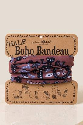 Boho Bandeau in Fall Florals - Brown