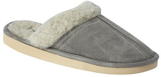Totes Suedette Mule with centre seam slipper