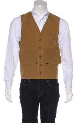 Co RRL & Woven Button-Up Vest