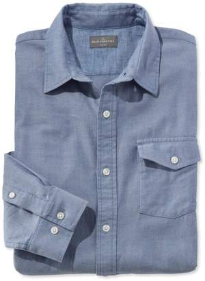 L.L. Bean L.L.Bean Signature Herringbone Twill Shirt, Long-Sleeve