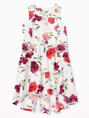 Old Navy Sleeveless Floral Hi-Lo Dress for Girls