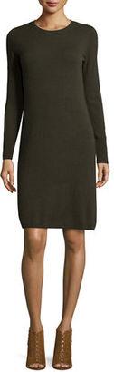 Neiman Marcus Cashmere Crewneck Sweater Dress $350 thestylecure.com