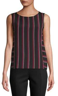 Lord & Taylor Striped Sleeveless Top