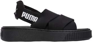 Puma Select Elastic Slingback Platform Sandals