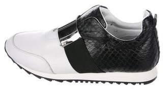 Barbara Bui Leather Embellished Sneakers