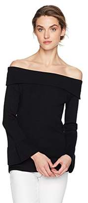 Max Studio Women's Off The Shoulder Flared Sleeve Sweater