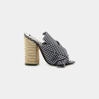 No.21 No. 21 Vichy Bow Espadrille Heeled Sandal
