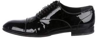 Gucci Patent Leather Cap-Toe Oxfords