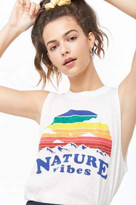 Forever 21 Nature Vibes Graphic Muscle Tee