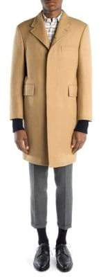 Thom Browne Button-Back Camel Coat