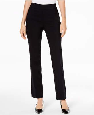JM Collection Pull-On Tummy Control Slim-Leg Pants