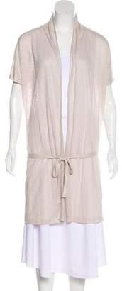 Malo Linen Wrap Cardigan