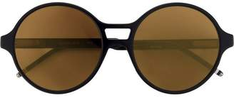Thom Browne Eyewear Round Dark Brown Sunglasses