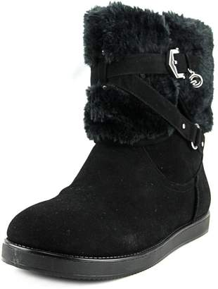 G by Guess Alixa Fuzzy Lined Pull On Short Winter Boots - Black Multi
