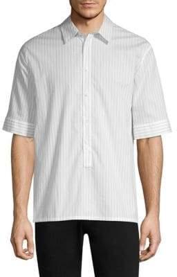 Helmut Lang Short-Sleeve Placket Shirt