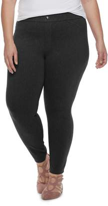 Utopia By Hue Plus Size Utopia by HUE Felted Twill Jean Skimmer Leggings