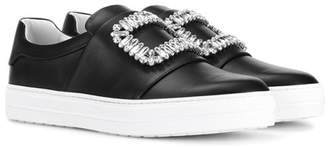 Roger Vivier Sneaky Viv embellished leather sneakers
