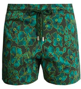Vilebrequin Moorise Natural Flowers Print Swim Shorts - Mens - Green