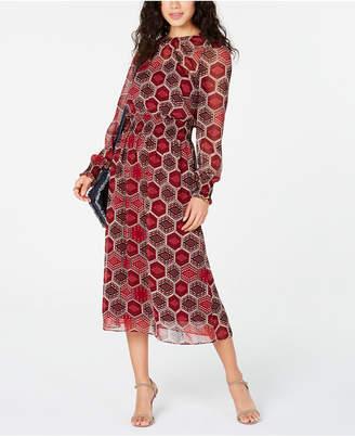 Tommy Hilfiger Long-Sleeve Honeycomb Dress
