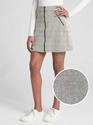 Gap Plaid Zip-Front Mini Skirt