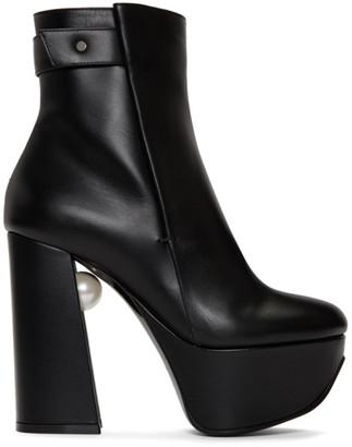 Nicholas Kirkwood Black Leather Miri Platform Boots