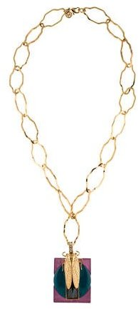 Tory BurchTory Burch Greer Scarab Pendant Necklace