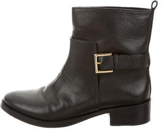 Tory BurchTory Burch Leather Round-Toe Ankle Boots