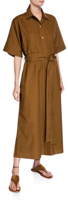 Vince Belted Maxi Utility Shirtdress