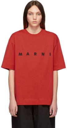 Marni Red Logo T-Shirt