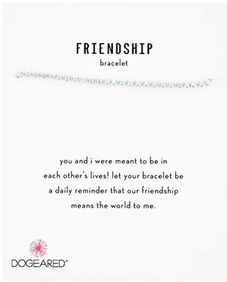 Dogeared Womens SS Blue Friendship Bracelet