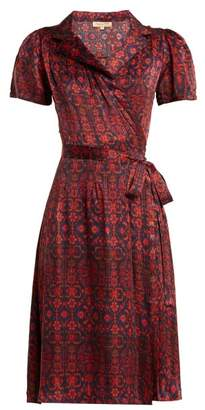 Soraya Muzungu Sisters Silk Wrap Dress - Womens - Red Print