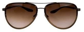 Barton Perreira Marshall Aviator Sunglasses