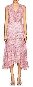 Saloni Women's Rita Floral Silk Midi-Dress - Pink