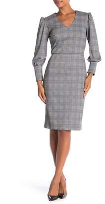 ABS by Allen Schwartz Collection Long Sleeve Print Midi Dress