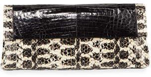 Nancy Gonzalez Gotham Medium Snakeskin Clutch Bag