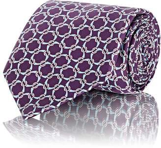 Barneys New York Men's Interlocking Rings Silk Satin Necktie