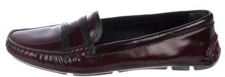 Prada Leather Round-Toe Loafers
