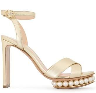 Nicholas Kirkwood gold pearl sandals