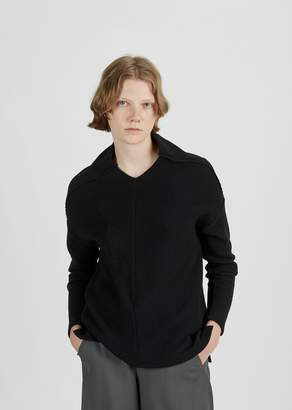 Zucca Wool Rib Stitch Sweater Black