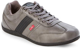 Levi's Charcoal Solano Burnish Low-Top Casual Sneakers