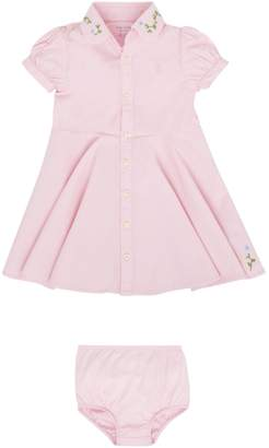 Polo Ralph Lauren Baby Girls Small Pony Embroidery Dress