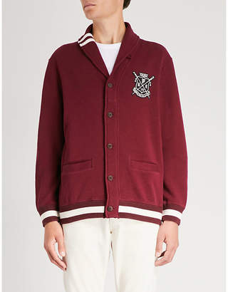 Polo Ralph Lauren Logo-patch cotton-blend cardigan