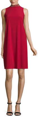 Tiana B Sleeveless Dress with Beaded Neck - Tall