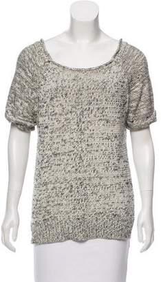 Halston Knit Short Sleeve Sweater